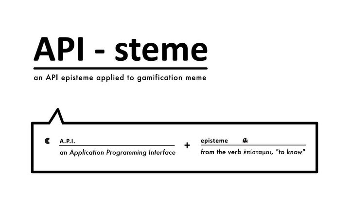 An episteme diffused by an API (aka API-education, Gamification, Gameducation, MMOedu)